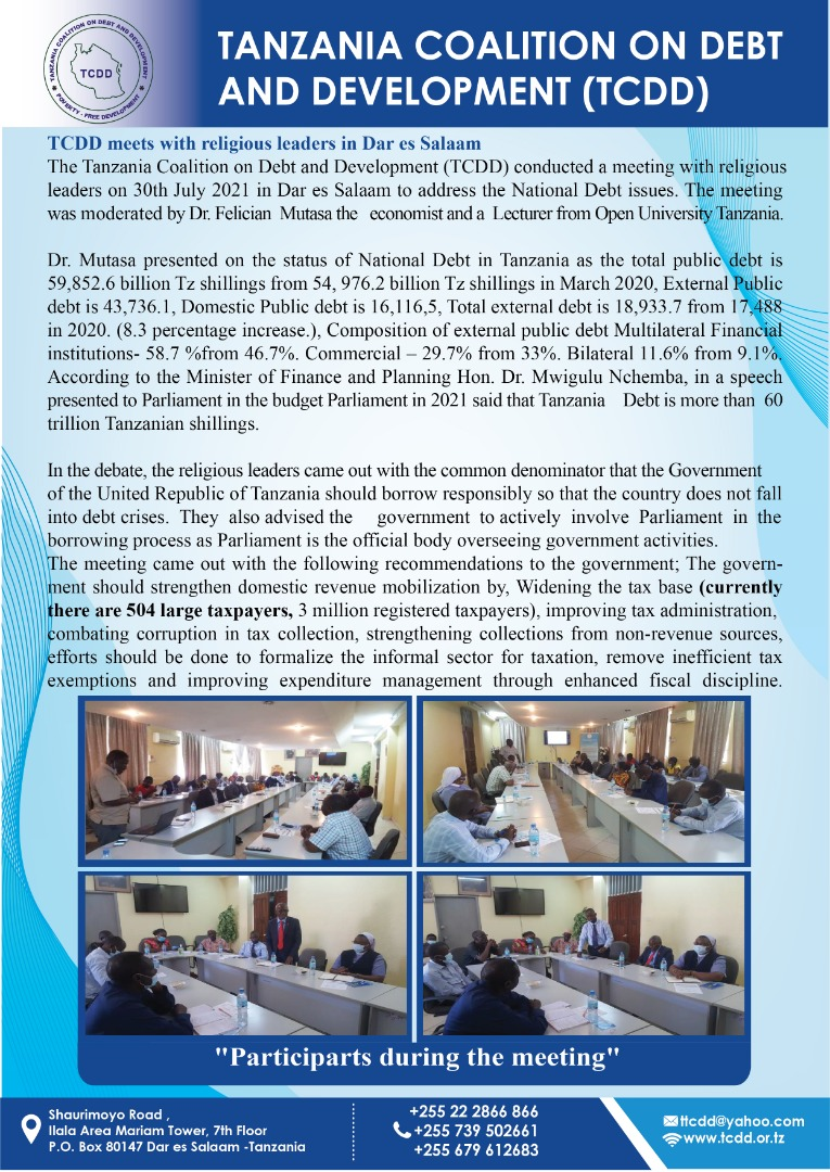 TCDD meets with religious leaders in Dar es Salaam
